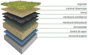 sistem de acoperis verde
