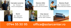Echipa Solarcenter Romania instalatii panouri solare