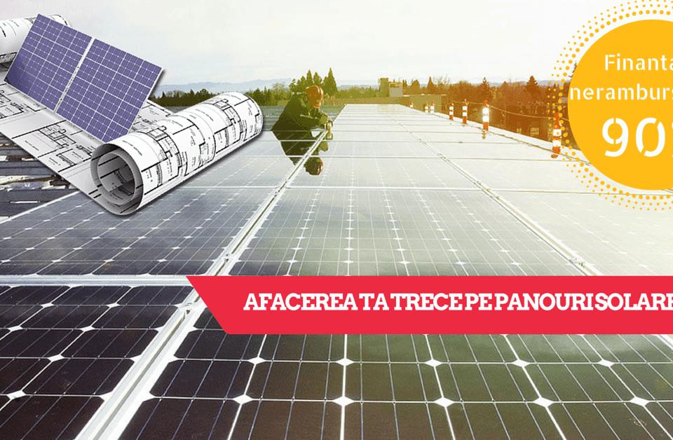 Finantare nerambursabila achizitie panouri solare
