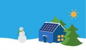 Functionarea panourilor solare pe timpul iernii