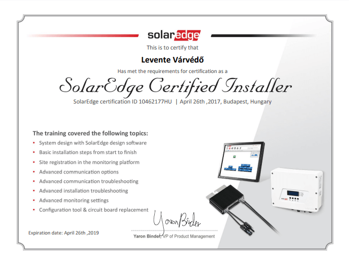 solarcenter partener solaredge