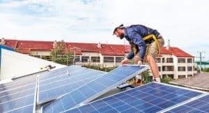 montajul panourilor solare